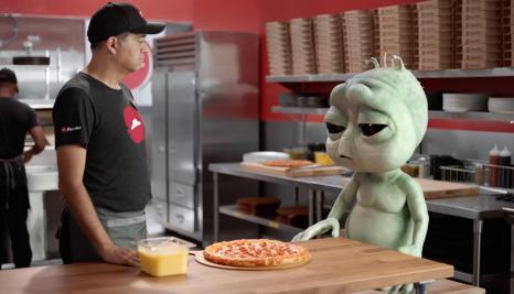 Campaign US — Pizza Hut's homesick alien breaks the QSR mold