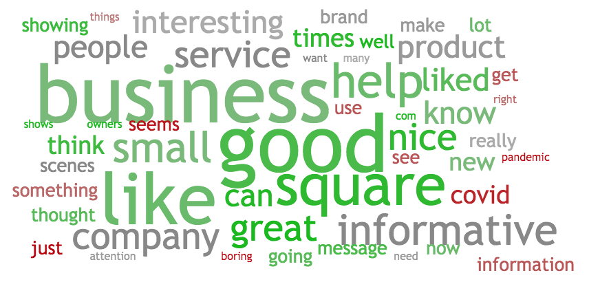 "Square ""Preparing You"" Viewer Verbatim Word Cloud from Ace Metrix"