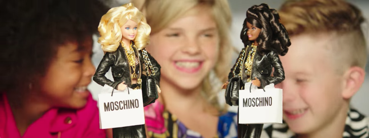 Barbie's Moschino ad features a fierce little boy for the first time