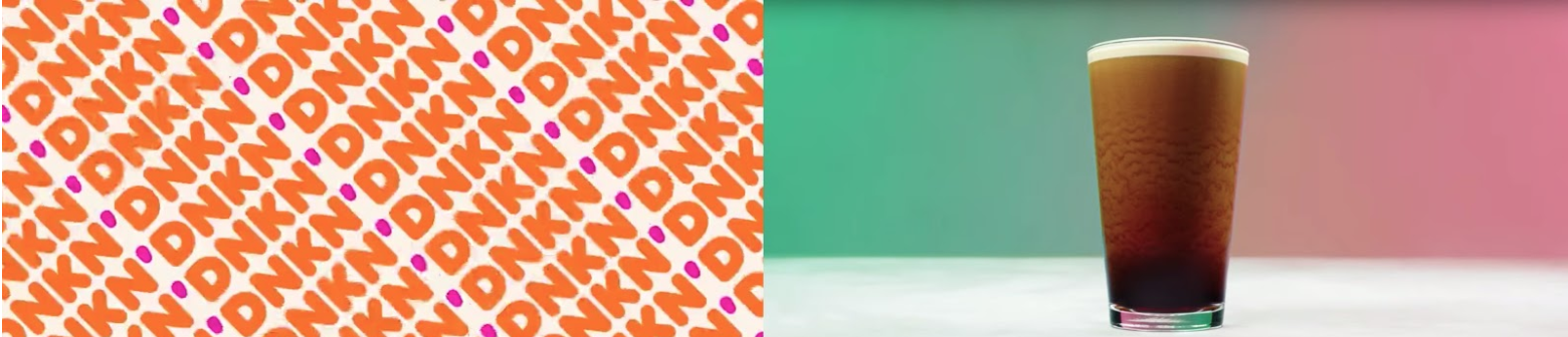 Dunkin' and Starbucks ads with colors